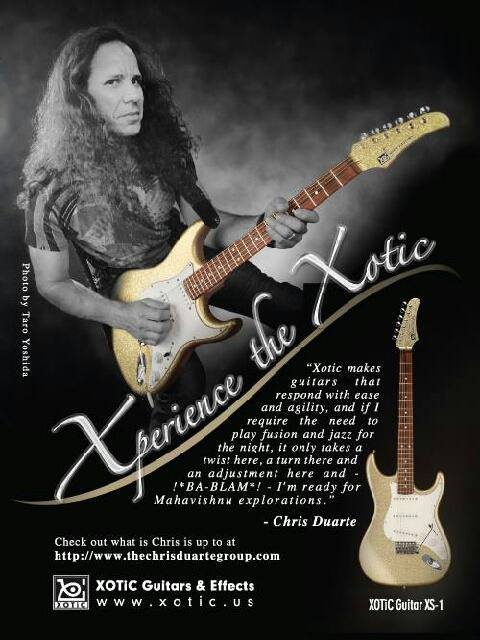 Chris Duarte proudly endorses and plays Xotic guitars.  Click on the photo to be taken to Xotic's page on Chris Duarte.