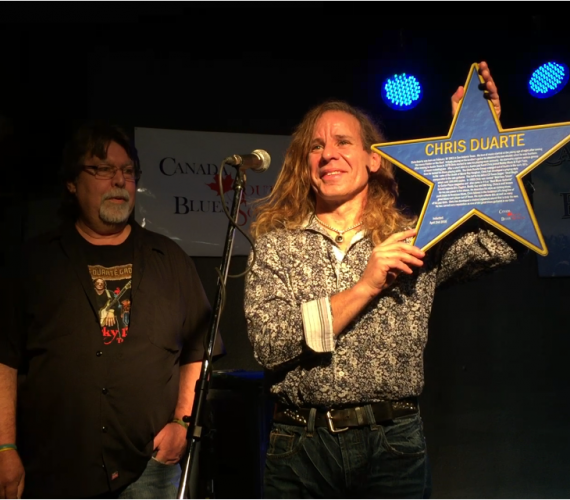 Chris Duarte inducted into Canada Blues Hall of Fame